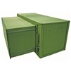 20' ISO 2-in-1 Expandable Full Length Shelter in green