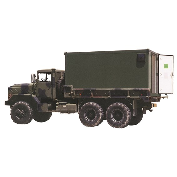 Mobility Shop Container (MSC) mounted on an FMTV