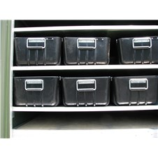 8&amp;#34; Storage Trays on shelf inside ISU<sup>&reg;</sup> container