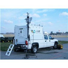 Contingency Response Communication System (CRCS) shown mounted on a truck