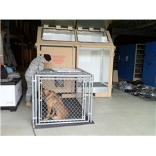 ISU<sup>&reg;</sup> 90KCI Dog Kennel with Military Working Dog