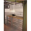 EISU Workshop integrated with cabinets and wooden workbench top