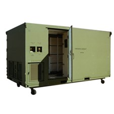 Light Air Mobile Shelter (LAMS) in green