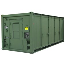Mobile Expandable Configuration Container (MECC) Single Door in green